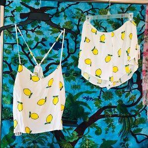 Lemon pajama set